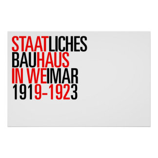 Bauhaus collection poster