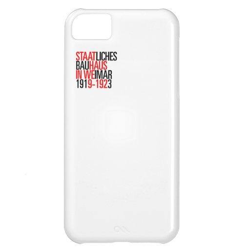 Bauhaus collection white case iphone iPhone 5C cases