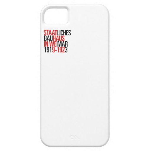 Bauhaus collection white case iphone iPhone 5 case