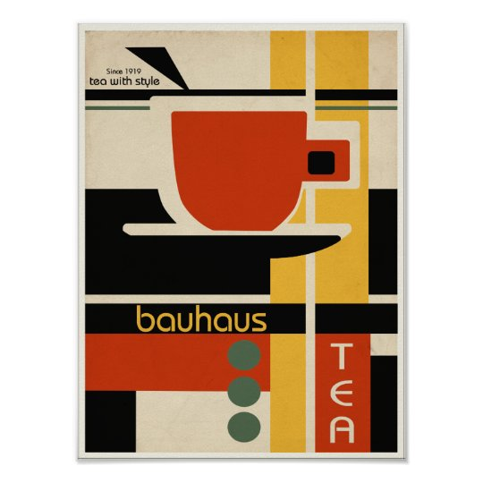 Bauhaus Design Tea Poster Zazzle Co Uk