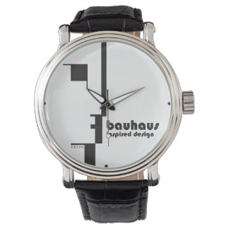 BAUHAUS Inspired Design Classic Line-Face Watch
