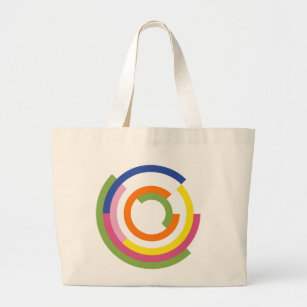 Bauhaus Inspired Design In A Greenery Palette Large Tote Bag 3e0972b9dee88