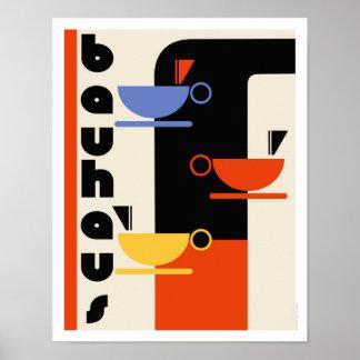 Bauhaus kitchen coffee art poster