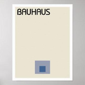 Bauhaus Minimalist Squares Poster