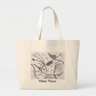 """Bauhaus One"" design by Viktor Tilson Large Tote Bag"
