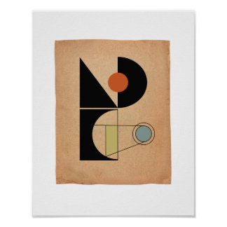 Bauhaus original Abstract #4 Poster