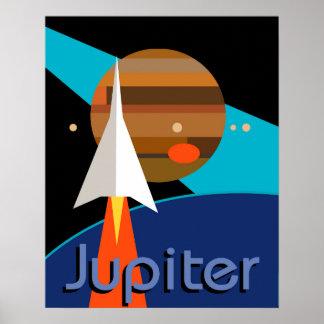 bauhaus rocket space art deco midcentury poster