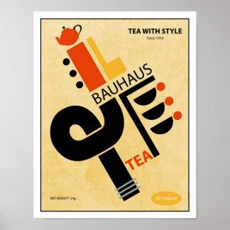 Bauhaus Tea Poster