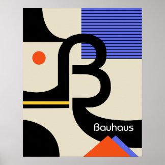 bauhaus typography retro modern graphic design poster