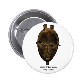 Baule Tribal Mask Pin