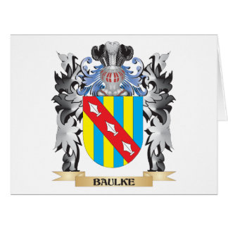 Baulke Coat of Arms - Family Crest Big Greeting Card