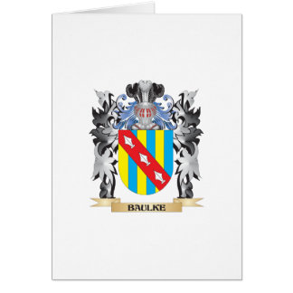 Baulke Coat of Arms - Family Crest Greeting Card