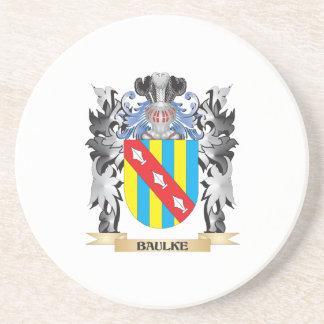 Baulke Coat of Arms - Family Crest Beverage Coaster