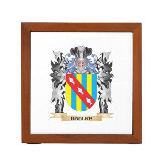 Baulke Coat of Arms - Family Crest Desk Organiser