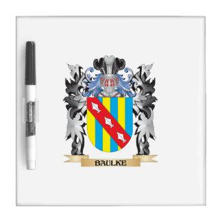 Baulke Coat of Arms - Family Crest Dry Erase Board
