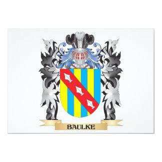 Baulke Coat of Arms - Family Crest 13 Cm X 18 Cm Invitation Card