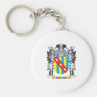 Baulke Coat of Arms - Family Crest Basic Round Button Key Ring