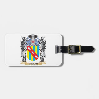Baulke Coat of Arms - Family Crest Travel Bag Tags