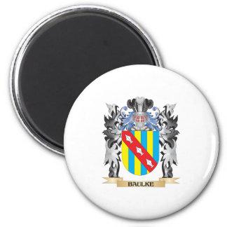 Baulke Coat of Arms - Family Crest 6 Cm Round Magnet