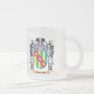Baulke Coat of Arms - Family Crest Frosted Glass Mug