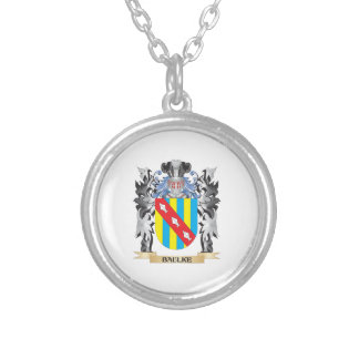 Baulke Coat of Arms - Family Crest Round Pendant Necklace