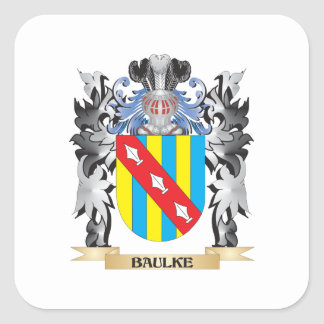 Baulke Coat of Arms - Family Crest Square Sticker