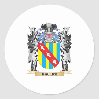 Baulke Coat of Arms - Family Crest Round Sticker
