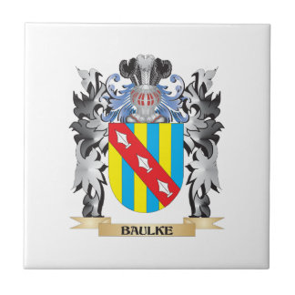 Baulke Coat of Arms - Family Crest Small Square Tile