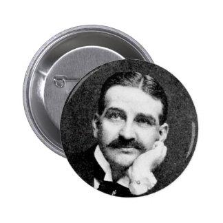 Baum ~ Frank Lyman Writer Wizard of Oz 6 Cm Round Badge