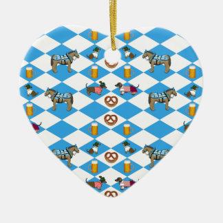 Bavaria beer Breze dachshund horse Ceramic Heart Decoration