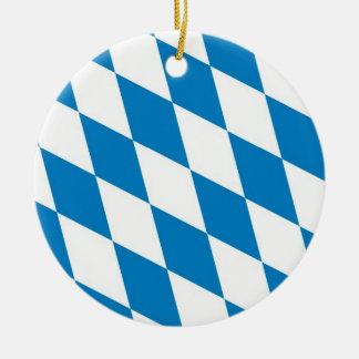 bavaria germany land flag christmas ornament