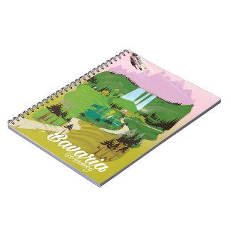 Bavaria Germany landscape travel print Notebook