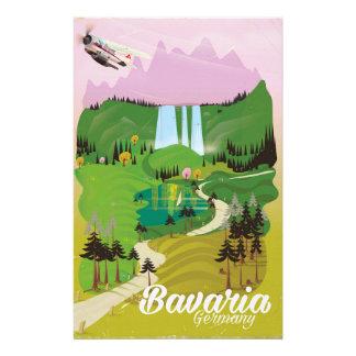 Bavaria Germany landscape travel print Stationery