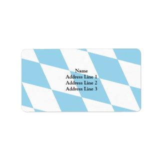 Bavaria (Lozengy), Germany flag Address Label