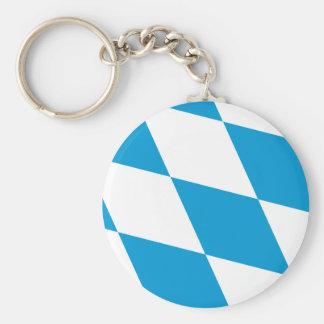 Bavaria (Lozengy), Germany flag Basic Round Button Key Ring
