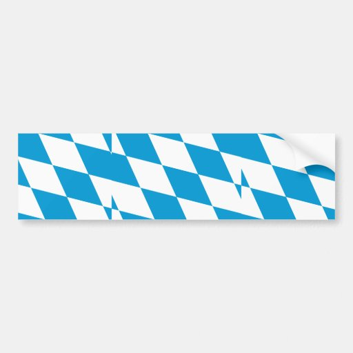 Bavaria (Lozengy), Germany flag Bumper Stickers
