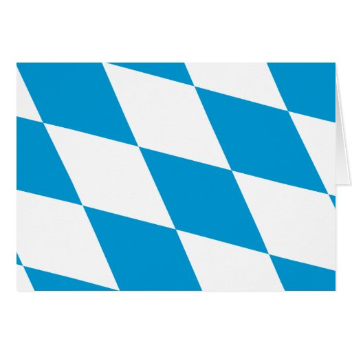 Bavaria (Lozengy), Germany flag Cards