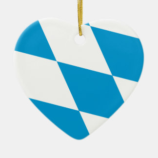 Bavaria (Lozengy), Germany flag Ceramic Heart Decoration