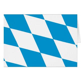 Bavaria (Lozengy), Germany flag Greeting Card