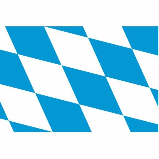 Bavaria (Lozengy), Germany flag Photo Cutouts