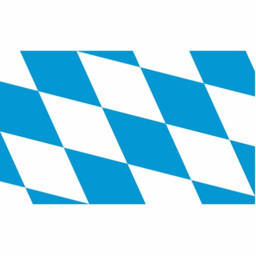 Bavaria (Lozengy), Germany flag Acrylic Cut Out