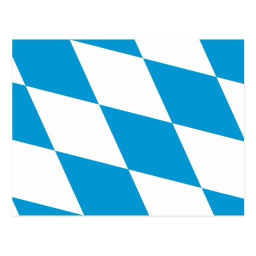 Bavaria (Lozengy), Germany flag Post Card