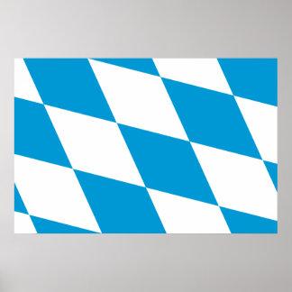 Bavaria Lozengy Germany flag Poster