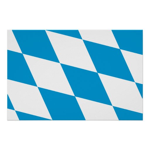 Bavaria (Lozengy), Germany flag Poster