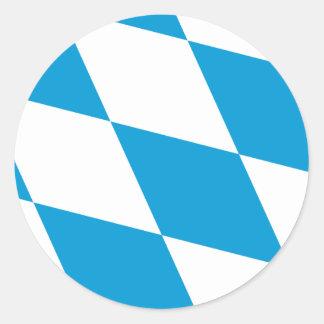 Bavaria Lozengy Germany flag Round Sticker
