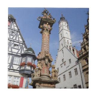 Bavaria Rothenburg ob der Tauber Small Square Tile