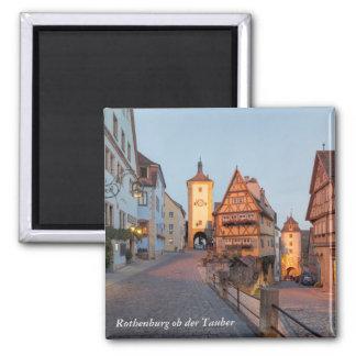 Bavaria, Rothenburg ob der Tauber Square Magnet