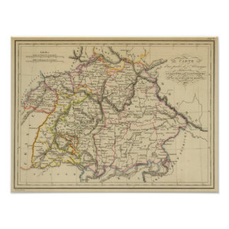 Bavaria, W�rttemberg and Baden Gr Poster