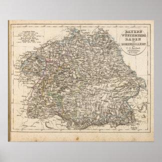 Bavaria, W�rttemberg, Baden, Hohenzollern Poster