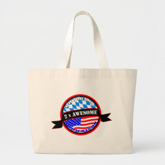 Bavarian American 2x Awesome Jumbo Tote Bag